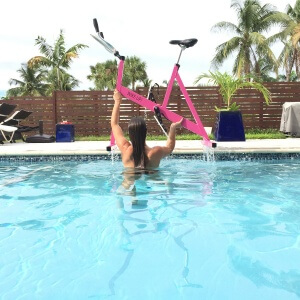 You can use your aquabike for a full body workout at home