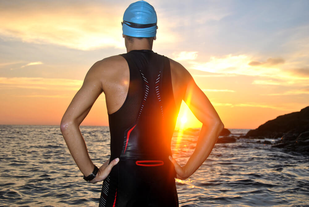 Get your swim in in the morning to avoid a sun burn and too many crowds