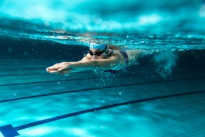 Swimming is gentle on injuries, but great cardio