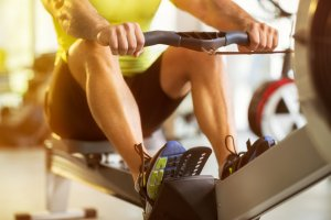 Rowing is a great low-impact cardio workout